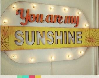 Big You are My Sunshine Wood Marquee …. Home Love Baby Nursery Wedding Anniversary Room