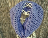 Beautiful Extra Long Purple Infinity Scarf