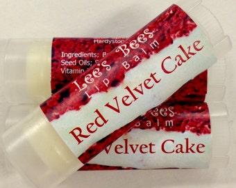 Natural Beeswax Lip Balm Red Velvet Cake, Chapstick Lip Salve, One Tube from Organic Beekeeper