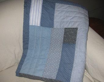 Blue Baby Boy Crib Quilt