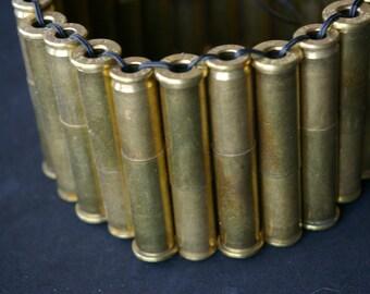 Brass Men's 223 X 38 Special Spent Bullet Shell Bracelet