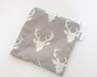 Deer Snack Bag, Resuable Snack Bag, Sandwich Bag, Reusable Bag, Multipurpose Bag, Eco Friendly Bag, Handmade