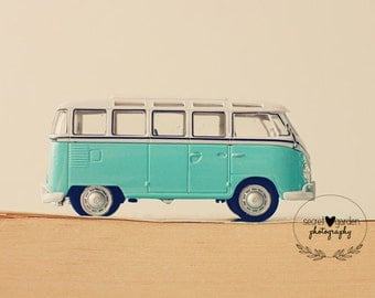 vw camper van print, vw photography, vw photo, stilllife photography, whimsical art, wall art, home decor, nursery decor, childrens room art