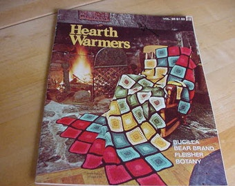 1974 Hearth Warmers, Afghans to Knit and Crochet,  Volume 85, 12 Designs