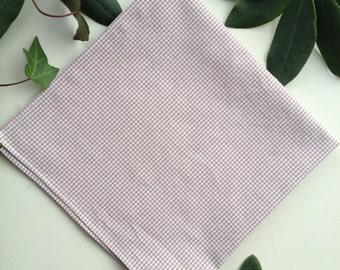 SALE Tan Gingham Handkerchief