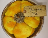 Pumpkin Pie, Pantry Pie, Fake Pie, Fall Fabric Pie