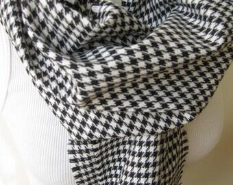 houndstooth scarf -black white houndstooth long scarf scarf- woman Man fashion scarves-fall fashion gift ideas Turkey winter FASHION scarf