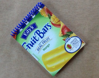 EDY'S FRUIT BARS mango packaging chip recycled spiral bound journal notebook
