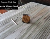 Wood Tie Tack Whiskey Barrel Handmade
