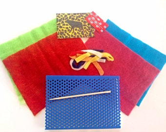 UPWOLFING Felting Kit - Foam Mat and Merino Wool Prefelt Sheets and Strips - Wet Felting Tools and Supplies