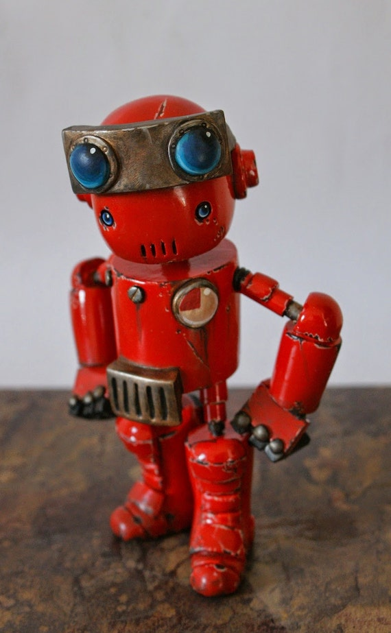 Custom Rusty Robot Minion Designed and Made for You