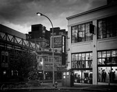 Dr. Who TARDIS Portland Oregon Black and White Nerd Geek Photo