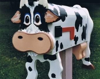 Farm Animal Mailboxes - Cow mailbox