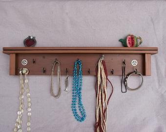 Jewelry / Key Holder on Reclaimed Wood