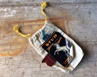 Authentic, Antique Tobacco Pouch, Muslin Bag, Tobacco Bag, R.J. Reynolds, Tax Stamp, Cigarette, Cigar, Pipe, All Vintage Man