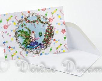 Christmas Fairy Card, Christmas Card, Christmas Greeting Card, Holiday Greetings Card, Holiday Card, Xmas Card, Yule Card, Seasons Greetings