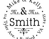 Return address stamp,SELF INKING custom address stamp,personalized wedding address stamp,gift card,R64