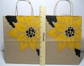 CLOSEOUT SALE 6 Kraft 8 x 10 Sunflower Bags, Showers, Weddings, Welcome Bags, Favor Bags