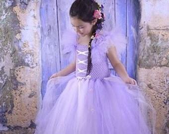 Tangled / Rapunzel Tutu Dress sizes 12-18m, 18-24m, 2t, 3t, 4t, 5t, 6,7,8