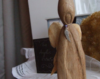 Hand Carved Wooden 'Spiritual Warrior'  - The Angelic Protector