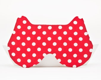Sleep Mask, Bear, Red  polka dot, Bear Mask