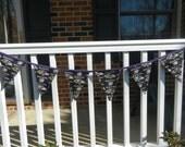 Bunting Banner Pennants Fabric Ravens