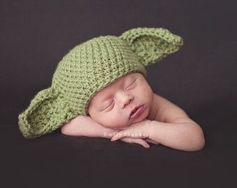Star Wars Yoda hat crochet