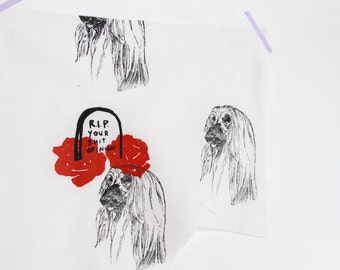 RIP ur shit opinion, afghan wolfhound decor