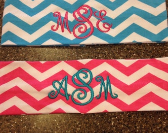 Personalized Monogrammed Chevron Headband--ONE