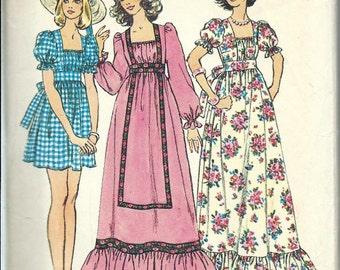 Simplicity 6036 Junior/Teen BOHO Dress, Long or Short, Size 13/14