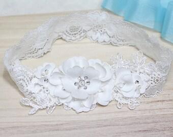 Wedding Garter, Bridal Garter, Wedding Lace Garter, Satin Garter, Lace Garter set