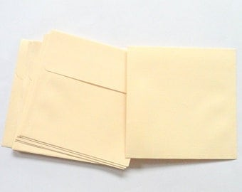 50 paper envelopes 4 x 4 inches