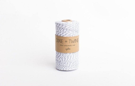 SALE 25 Yards Oyster Grey Divine Twine Baker's Twine