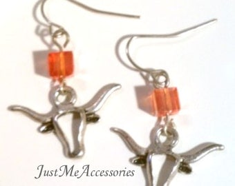University of Texas Longhorn Earrings