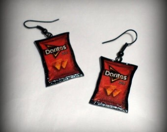 Handmade Polymer Clay Doritos Earrings