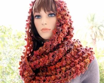 Crochet Scarf PATTERN Infinity Scarf, Circle Scarf, Fall Scarf DIY Gift, Chunky Scarf Instant Digital Download PDF, Lyubava Pattern No.148
