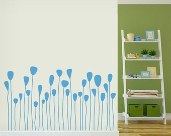 Whispy Tulips Wall Decal - Flower Wall Sticker, Nature Wall Decal, Spring Wall Decor, Living Room Wall Decal, Tulip Decal, Tulip Sticker