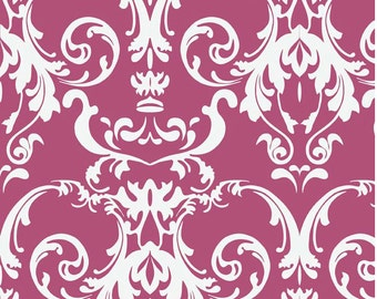 Halle Rose - One Yard Cut - Novelty Fabric - Damask Orchid - Cotton Fabric - Riley Blake Designs - Damask Fabric