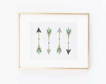 Nursery Art Native Arrows. Nursery Wall Art. Nursery Prints. Nursery Decor. Boy Wall Art. Adventure Nursery. Arrows Print. Instant Download.