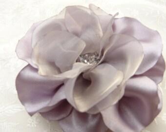 Silver Wedding Accessories Grey Silver Hair Flower Gray Bridal Accessories Light Silver Hair Clip Silver Gift for Bridesmaids