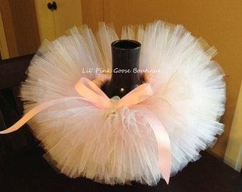 SOFT PINK GLAM Tutu, Pink Gold White Tutu, Tutus for Children, Newborn Tutu, Newborn Photo Prop, Photography Prop, Birthday Tutu