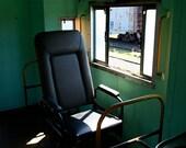 Fine Art Train Photography Vintage Green Last Seat 8x12
