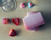 Soap, Shea Butter Soap, Strawberry Mimosa Soap, Bamboo Powder, Scented Soap, Scrubbing Soap, 4oz.
