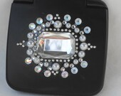 Black Blinged Compact Mirror