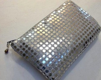 Silver Sequin Party Clutch