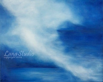 Peaceful Storm -- Original Oil Painting Signed Print 11X14