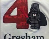 Children's Darth Vader birthday shirt