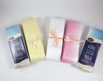 Satin Blanket Binding Wrights Blanket Binding Double Side Satin Binding Destash Commercial Supplies