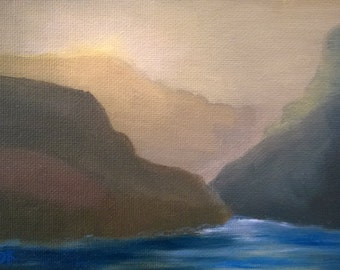 Diffused Light Study n.1 - Oil on Canvas Panel - 5 x 7 inches