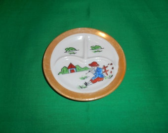 Five (5), Children's Divided Plates, from Post War Japan.